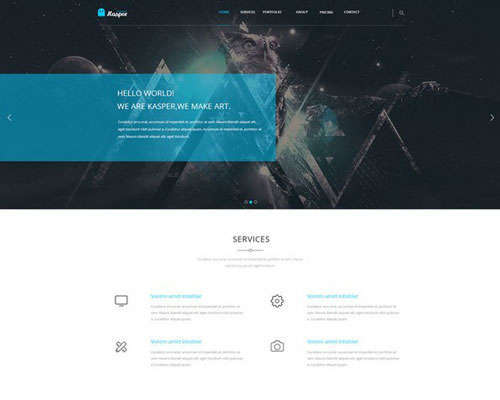 Kasper One Page Creative PSD Template