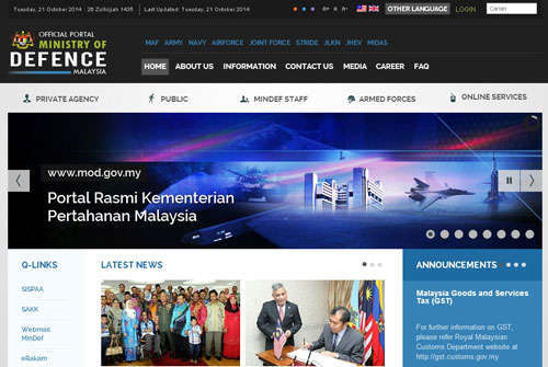 Ministry Of Defence Malaysia Official Portal