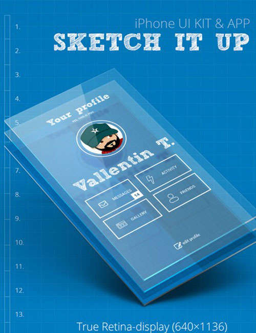 iPhone UI - Sketch It Up