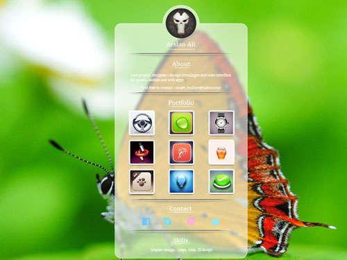 Profile UI Design Get Free PSD