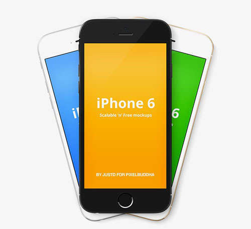 iPhone 6 Vector Mockups