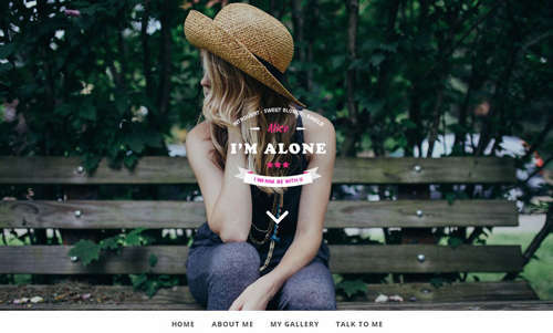Free HTML Bootstrap template Lonely