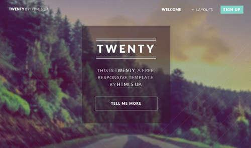 Twenty HTML5 Template