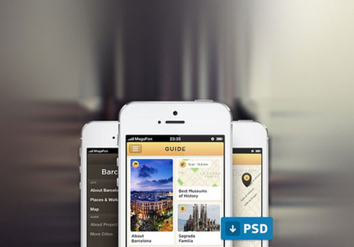 City Guide App Psd