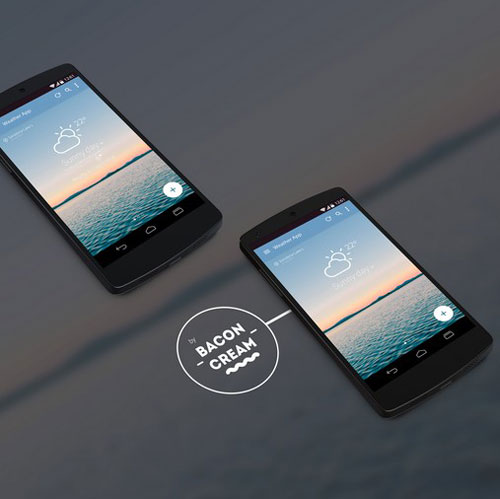 Android L Weather App Concept