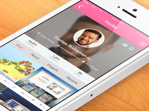 8 Dribbble Mobile App Screens Psd