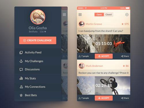 iOS7 Challenge App PSD