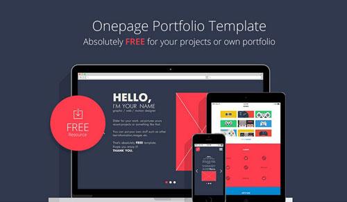 Onepage Portfolio Template Free