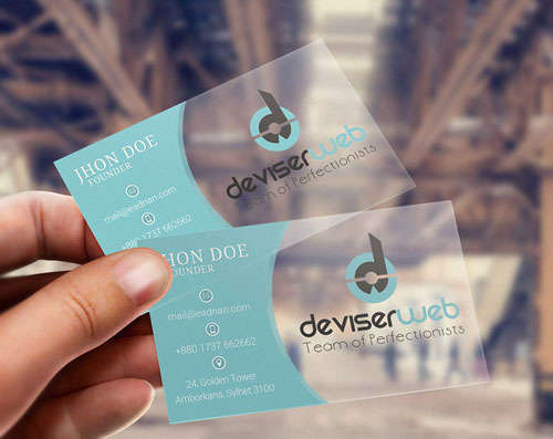 Free Psd Transparent Plastic Business Card