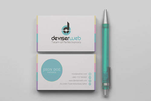 Free Modern Business Card Template Psd Download