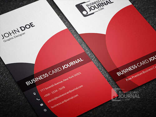 Classy & Elegant Vertical Business Card Template