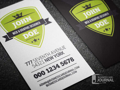 Modern Retro Vertical Business Card Template