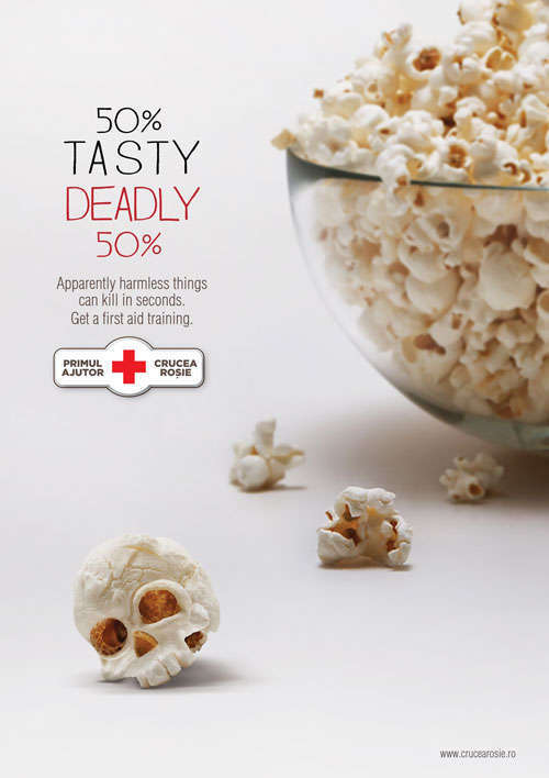 Romanian Red Cross: Killer popcorn