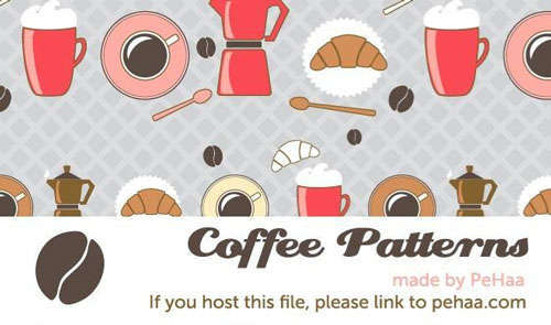 Coffee Seamless Vector Patterns