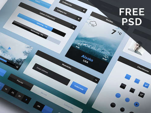 Winter UI kit PSD