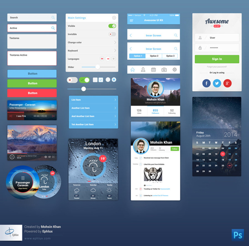 Awesome Mobile Ui Kit