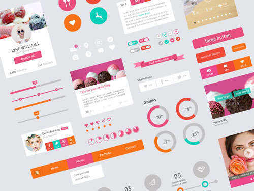 Flat Design User Interface Elements