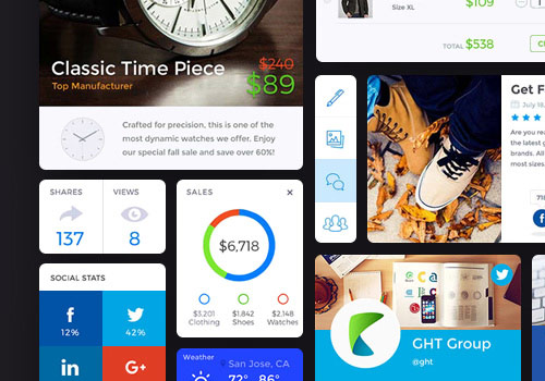 Shopping / Social UI Kit