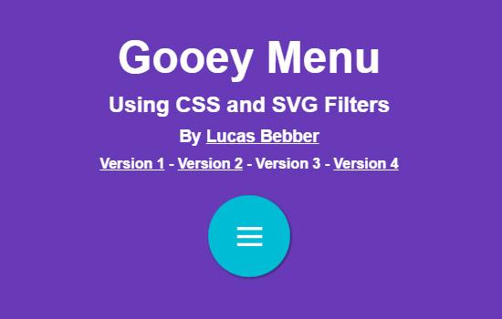 CSS Gooey Menu