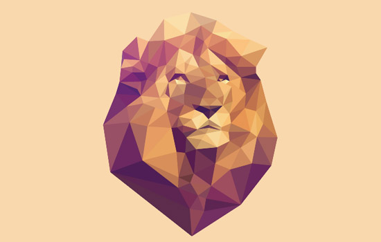 SVG Low PolyLion: Animated Polygons