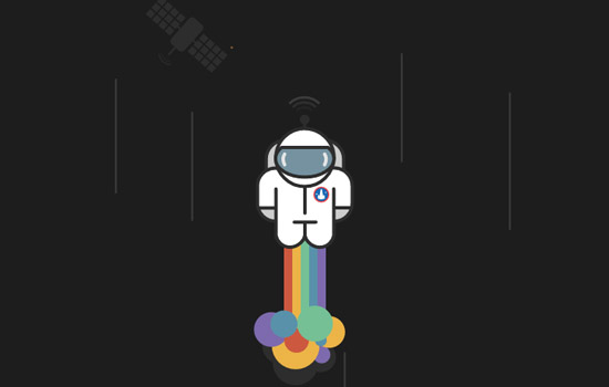 SVG Rainbow Rocket Man
