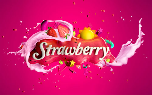 Strawberry Milk in Typography Design Inspiration