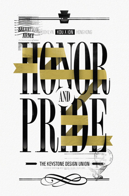 Honor & Pride in Typography Design Inspiration