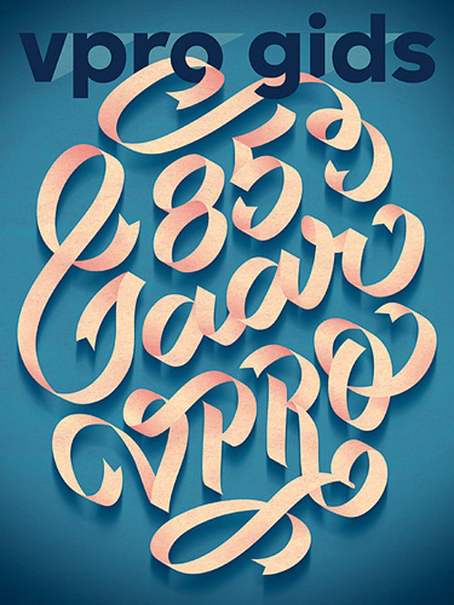 85 Jaar VPRO in Typography Design Inspiration