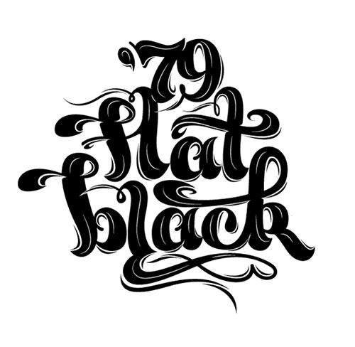Lettering - Flat Black